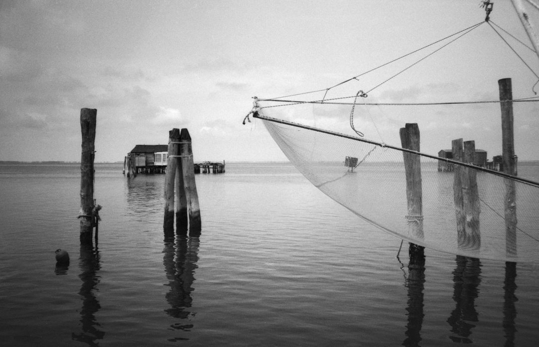 #135 Sea Posts and Net, Pellestrina, Italy
