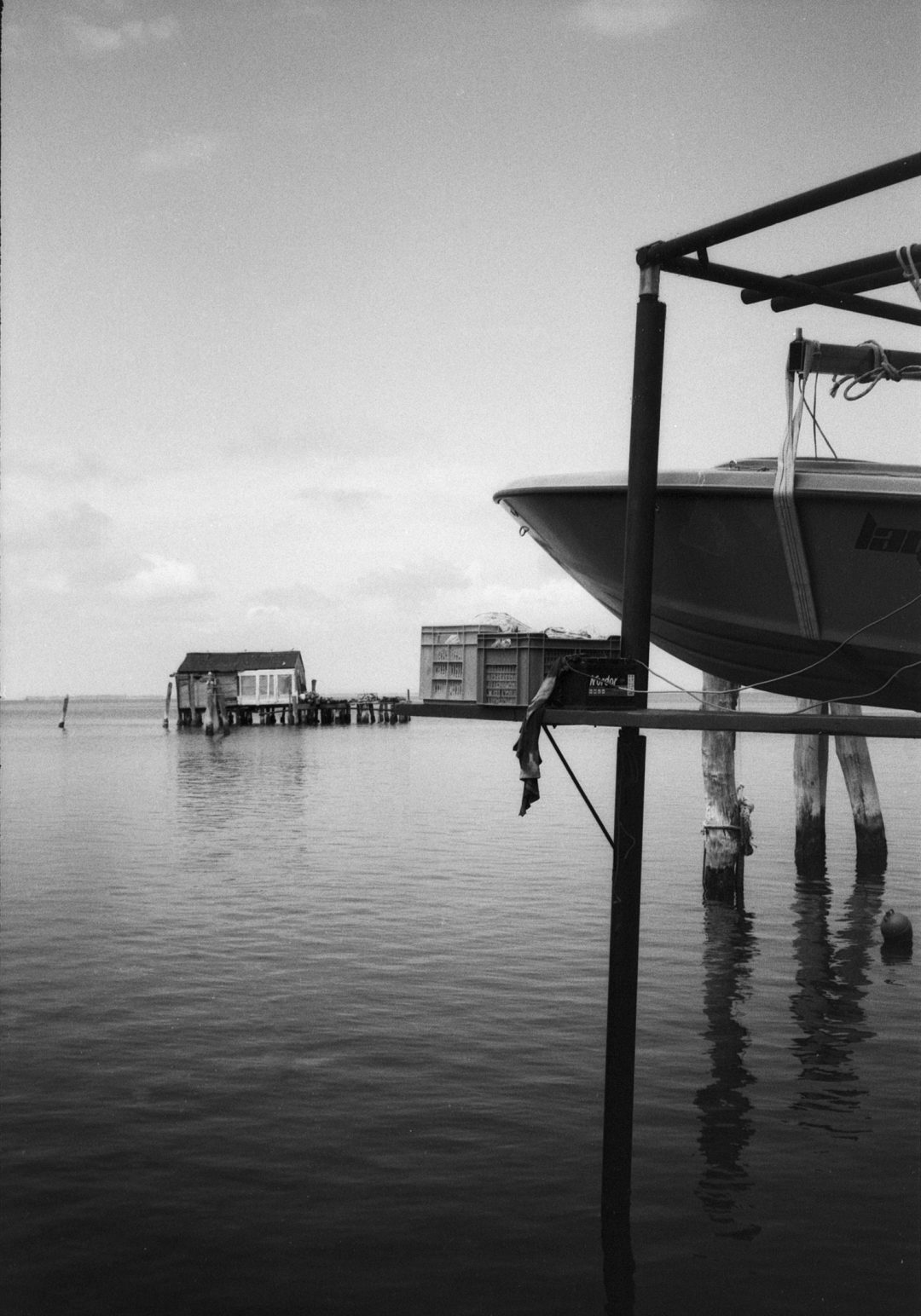 #137 Boat and Crates, Pellestrina, Italy
