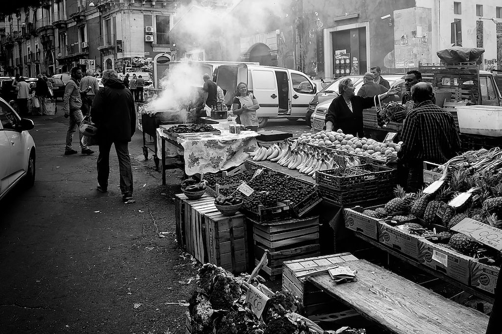 Market at Catania, Sicily