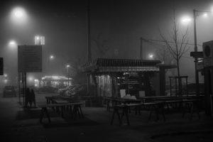 Night of fog, Graz - Kaiserjosephplatz