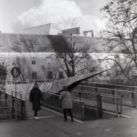 Filters for film Ilford FP4Plus Olympus OM1 - Feb 2020 Graz Red grad #15
