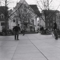 Filters for film Ilford FP4Plus Olympus OM1 - Feb 2020 Graz Red grad #8