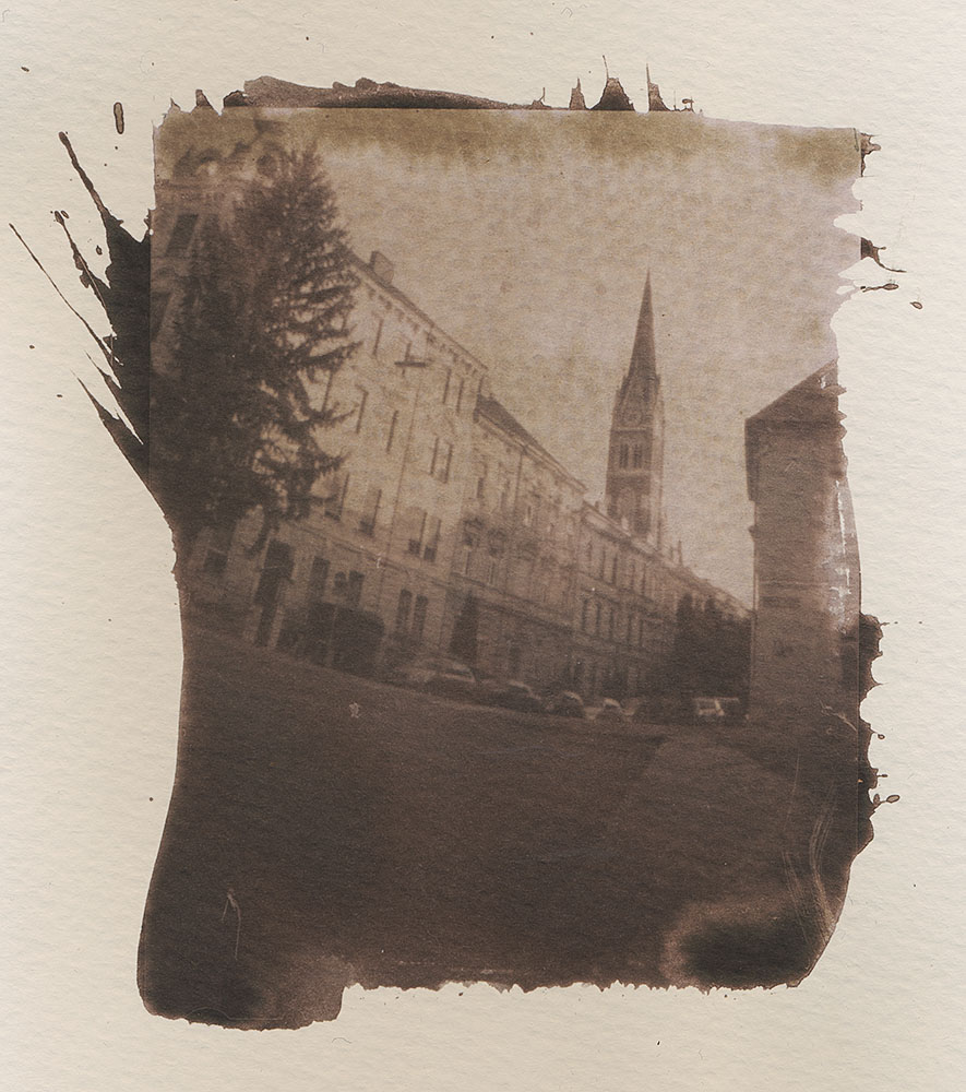 Herz-Jesu-Kirche Graz - Contact Print using VanDyke Brown