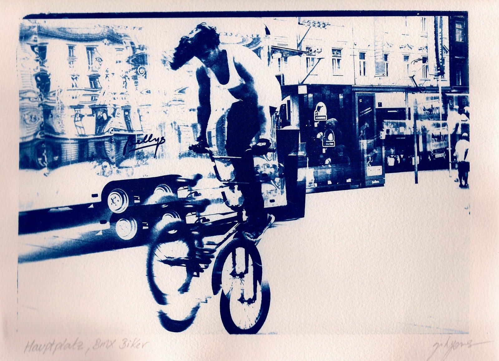 Hauptplatz, Graz - BMX Biker