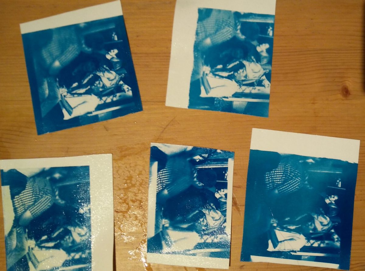 Cyanotypes made with UV from a Nail Dryer