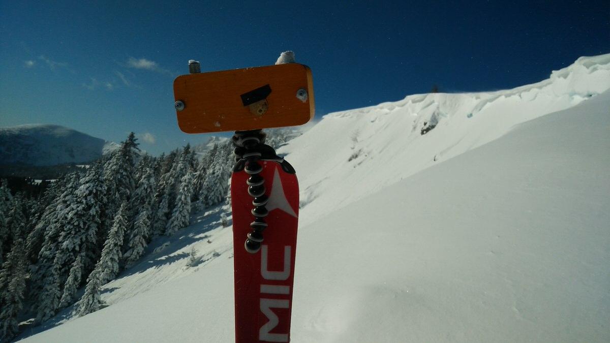 Ski Tripod! - Frauenalpe, Austria - Pinhole with Kosmos Foto Mono developed with Rodinal