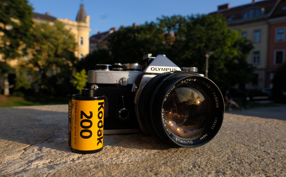 Olympus OM-1 Zuiko 55mm ƒ/1.2 Kodak Film