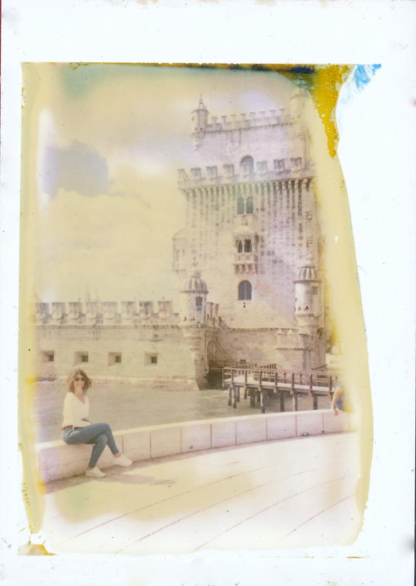 Torre de Belem, Lisbon - One Instant, Polaroid Land Camera 100