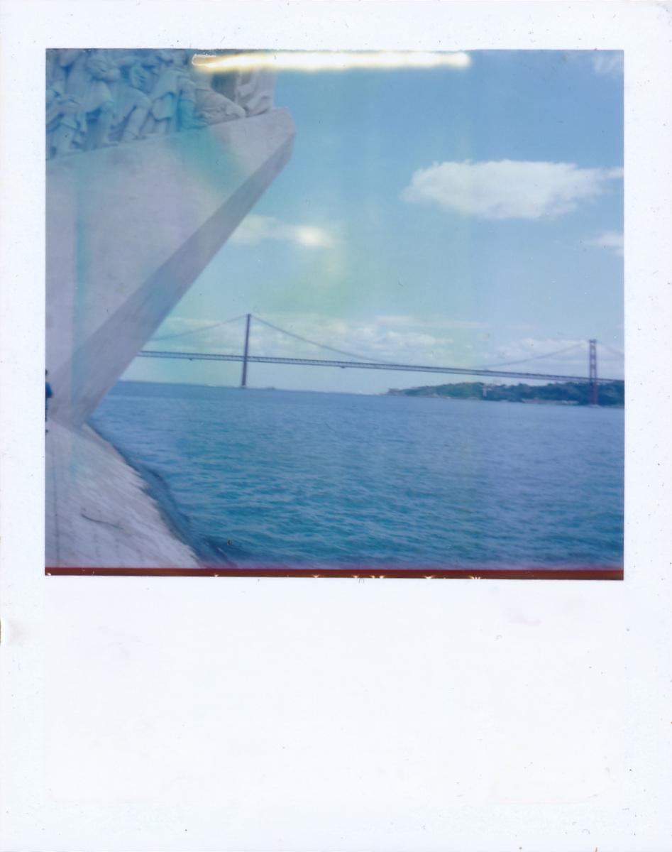 Lisbon suspension bridge - One Instant, Polaroid Land Camera 100