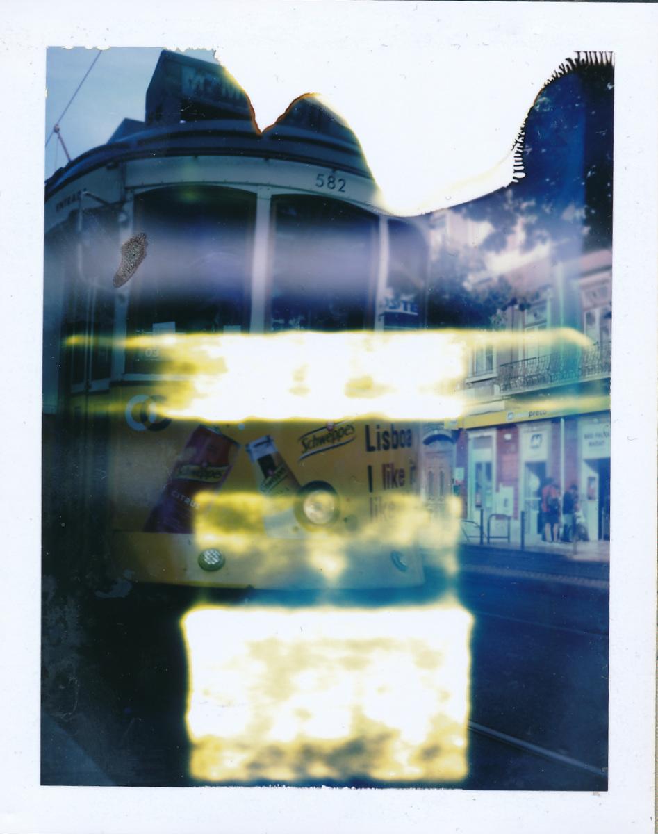 Lisbon Tram - One Instant, Polaroid Land Camera 100