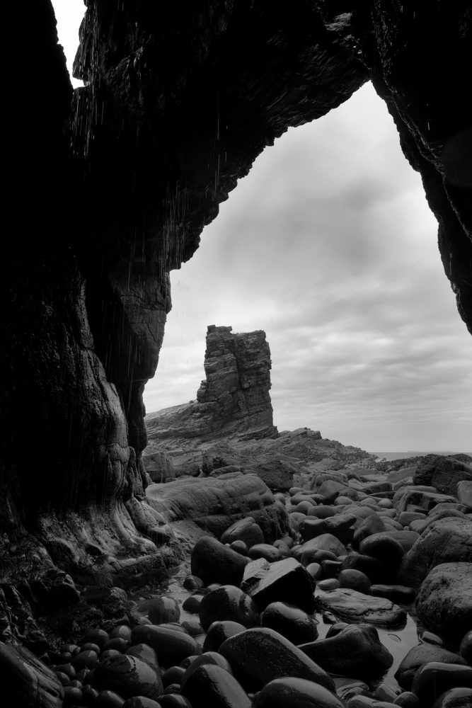 Sea Stack from Wilderness Cave