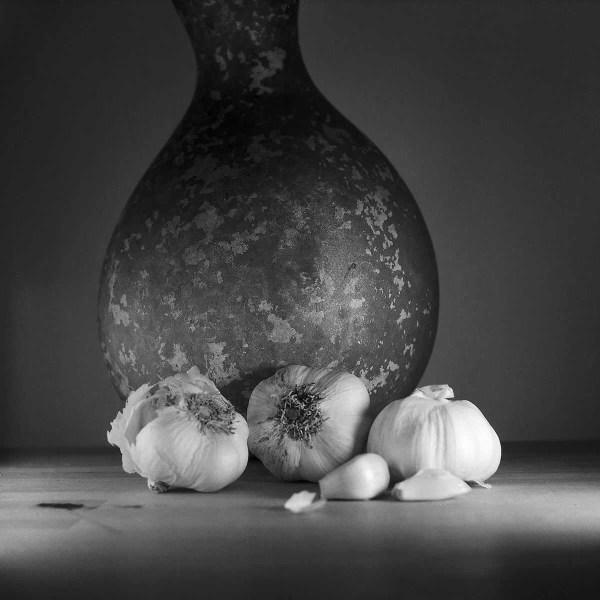 Garlic - Still Life Photography | Yashica MAT124 with Fomapan