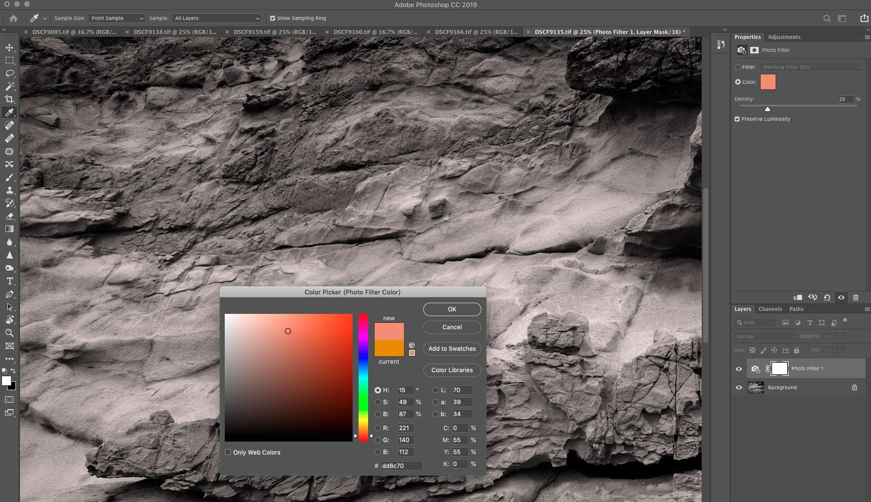 Cyanotype Orange Filter Photoshop