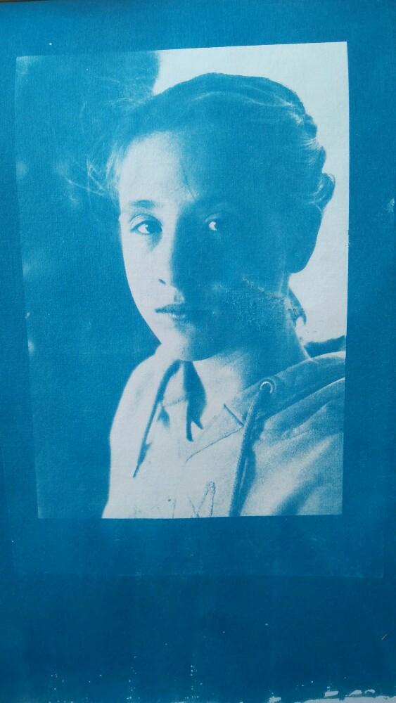 Giorgia on Cyanotype - Digital Negative