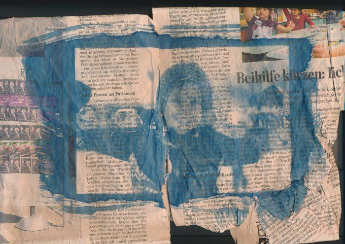 Jesse on newspaper - Digital Negative
